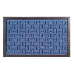 Synthetic Blue Door Mat (24 x 16)
