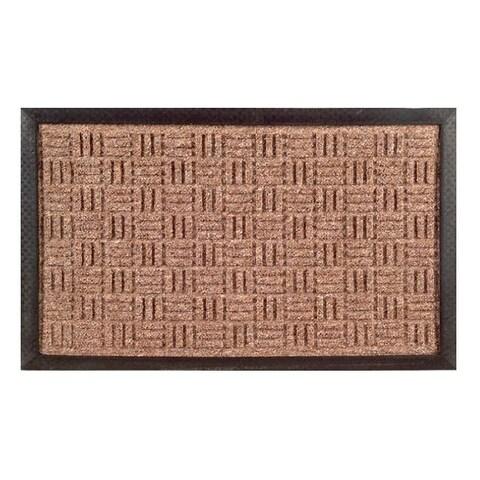 Synthetic Brown Door Mat (24 x 16)