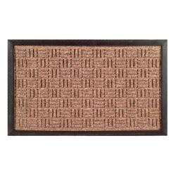 Synthetic Brown Door Mat (24 x 16)