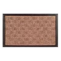 Synthetic Brown Door Mat (36 x 24)