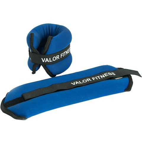 Valor Fitness EA-10 Fully Adjustable Ankle Weights/Wrist Weights 2 lbs