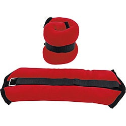 Valor Fitness 3-pound Red Ankle Weight Pair