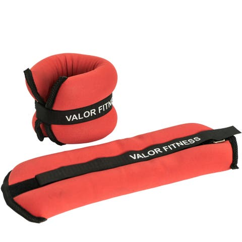 Valor Fitness EA-11 Fully Adjustable Ankle Weights/Wrist Weights 3 lbs
