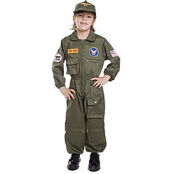 Dress Up America Boy's Air Force Solider Pilot Costume