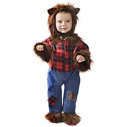 Dress Up America Kid's Wolfman Costume (Option: Brown)