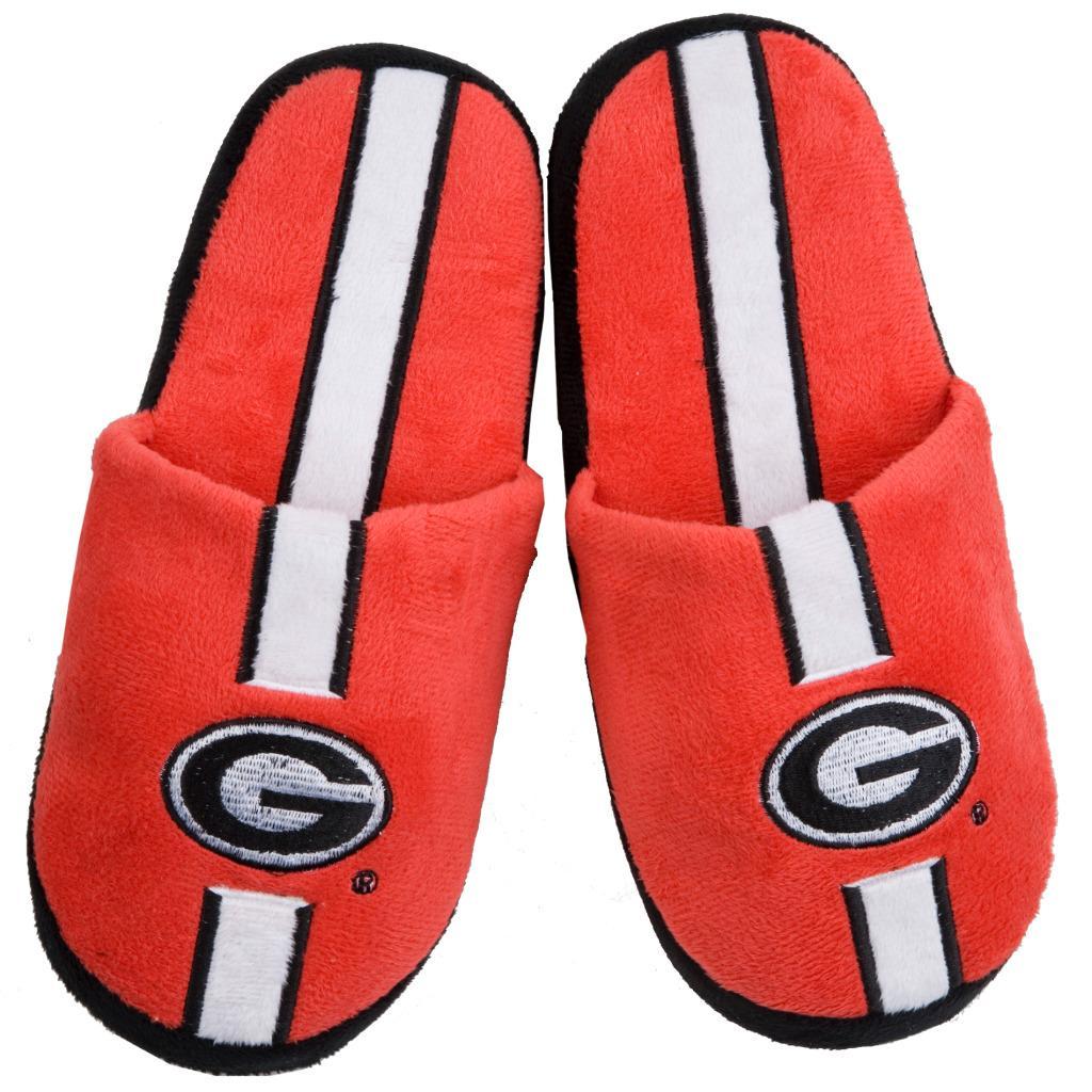 Georgia Bulldogs Striped Slide Slippers