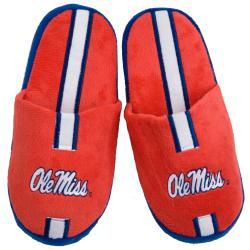 Ole Miss Runnin Rebels Striped Slide Slippers