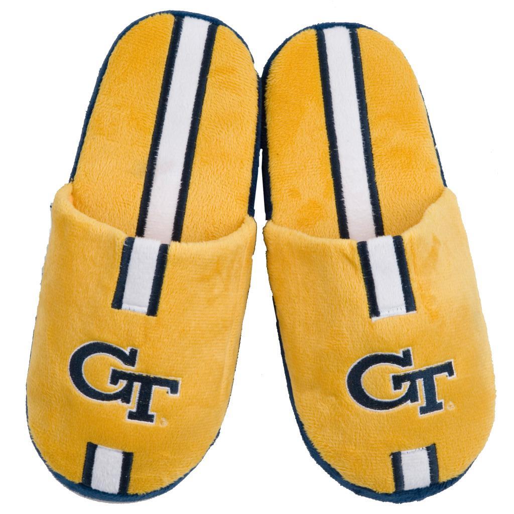 NCAA Georgia Tech Yellow Jackets Striped Slide Slippers