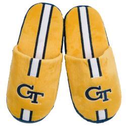NCAA Georgia Tech Yellow Jackets Striped Slide Slippers - Thumbnail 1