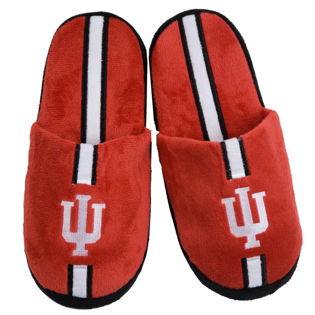 NCAA Indiana Hoosiers Striped Slide Slippers