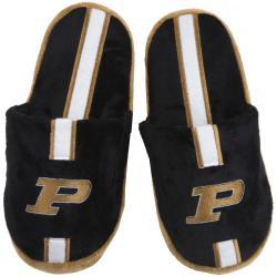 NCAA Purdue Boilermakers Striped Slide Slippers - Thumbnail 1