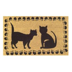 Two Cats Door Mat (30x18)