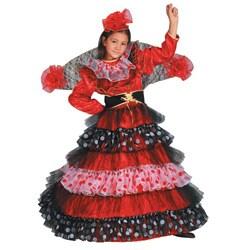 Dress Up America Girl's Flamenco Dancer Costume