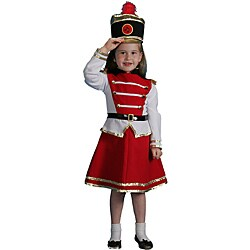 Dress Up America Girl's 3-piece Drum Majorette Costume (As Is Item)