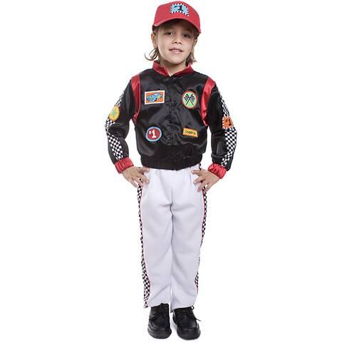 Dress Up America Boy's 3-piece Race Car Driver Costume