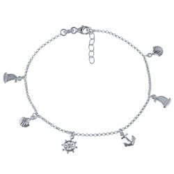 Sterling Silver 10-inch Nautical Anklet