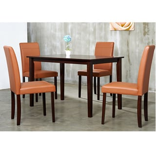 Warehouse of Tiffany 5-piece Toffee Dining Set