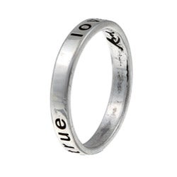 Sterling Essentials Sterling Silver 'True Love Waits' Ring - Thumbnail 1