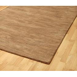 Hand-tufted Brown Abstract Wool Rug (8' x 10')