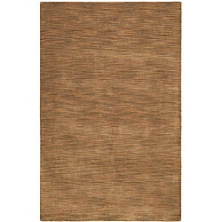 Hand-tufted Brown Abstract Wool Rug - 8' x 10' - Thumbnail 0