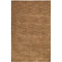 Hand-tufted Brown Abstract Wool Rug - 8' x 10'