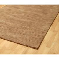 Hand-tufted Brown Abstract Wool Rug (8' x 10') - 8' x 10'