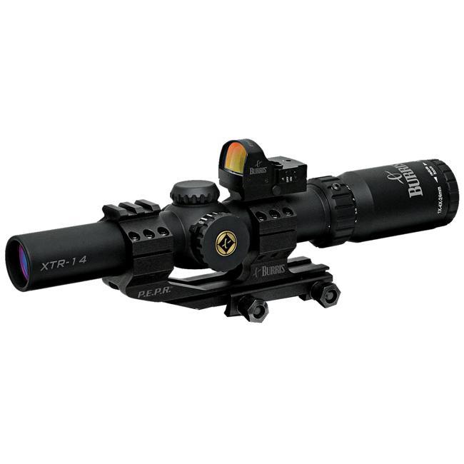 Burris 1-4x24 Xtreme Tactical Rifle Scope and FastFire II Reflex Sight