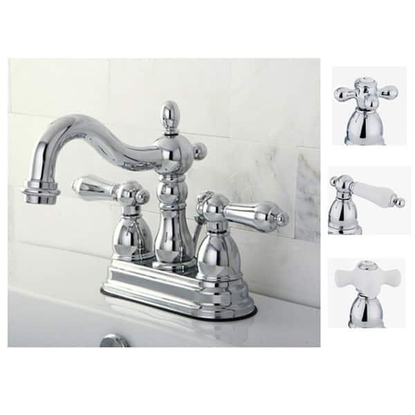 Chrome 4 Inch Center Bathroom Faucet