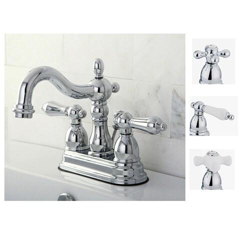 Heritage Chrome 4-inch Center Bathroom Faucet