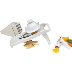 V-shaped Mandoline Slicer and 4-piece Cheese Grater Set