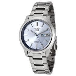 Seiko Men's 'Seiko 5' Light Blue Dial Stainless Steel Automatic Watch|https://ak1.ostkcdn.com/images/products/5533166/73/192/Seiko-Mens-Seiko-5-Light-Blue-Dial-Stainless-Steel-Automatic-Watch-P13310424.jpg?impolicy=medium