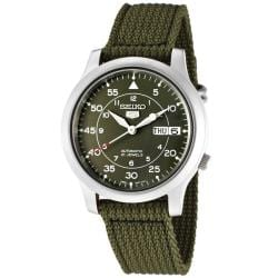 Seiko Men's SNK805K2 Seiko 5 Green Dial Green Fabric Automatic Watch