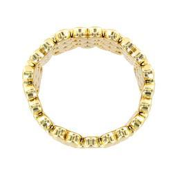 Goldtone Multi-disk Stretch Cuff Bracelet - Thumbnail 1
