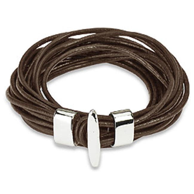 Brown Leather Multi-cord Bracelet