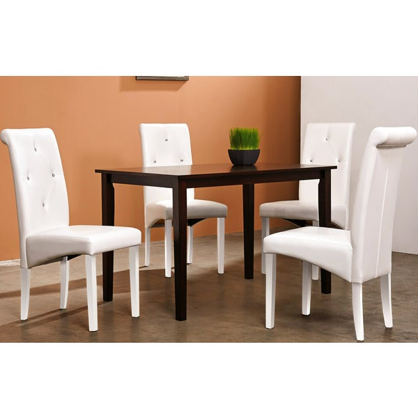 Shop Warehouse Of Tiffany 5-piece White Dining Furniture