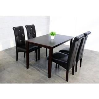 dining room sofa set. warehouse of tiffany 5-piece modern black dining room furniture set sofa