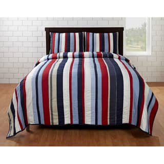 Cameron Red/ Blue Striped 3-piece Quilt Set|https://ak1.ostkcdn.com/images/products/5533362/Cameron-Red-Blue-Striped-3-piece-Quilt-Set-P13310616.jpg?impolicy=medium
