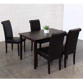 Warehouse of Tiffany 5-piece Black Dining Furniture Set