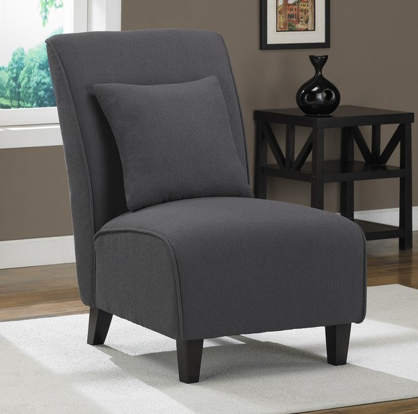 armless accent chairs living room steel grey tapered armless accent chair seat modern style 20499