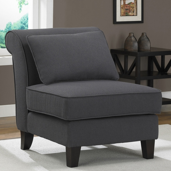 Steel Grey Slipper Chair