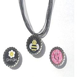 BEE-u-ti-ful Bottle Cap Necklace Set