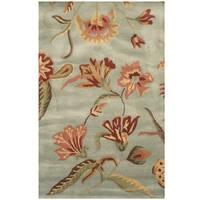 Herat Oriental Indo Hand-tufted Floral Wool Rug - 3'3 x 5'3