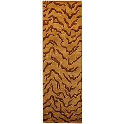 Herat Oriental Indo Hand-tufted Tibetan Wool Runner (2'6 x 8')