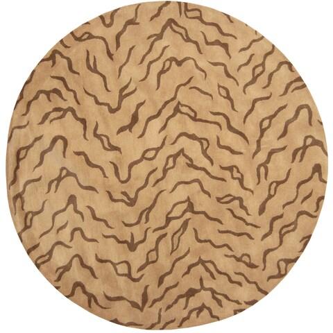 Herat Oriental Indo Hand-tufted Tibetan Wool Rug (8' x 8') - 8' x 8' Round