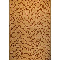 Herat Oriental Indo Hand-tufted Tibetan Wool Rug (6' x 9')