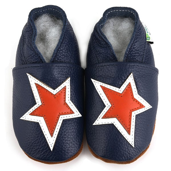 Star Soft Sole Leather Boy's Shoes