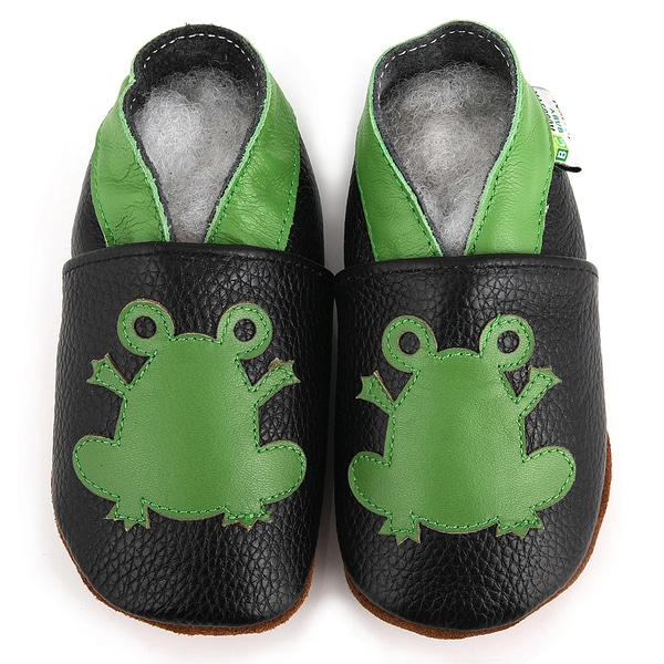 Frog Prince Soft Sole Leather Boy's Shoes