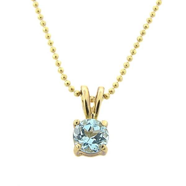 Dolce Giavonna 18k Gold over Sterling Silver Blue Topaz Necklace