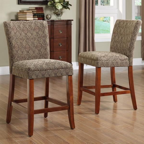 Carlisle Cherry 24-inch Counter Height Chairs (Set of 2)