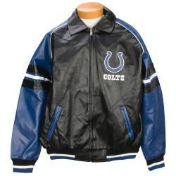 Men's Indianapolis Colts Pleather Varsity Jacket - Thumbnail 1